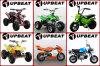 子供49cc ATV小型ATVの小型クォード49ccのクォードのための明るい49ccクォードのバイクATV