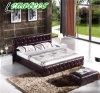 C022 de cuero Geniune cama estilo americano