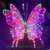 美しいクリスマスの休日のモチーフの照明LED蝶ライト