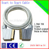 1.5m Grey 21pin Nickel-Plated Scart Cable (SY013)