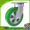 150mm Handlaufkatze-Aluminiumrad elastische PU-Fußrolle