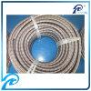 304 En acier inoxydable tressé Extérieur flexible en caoutchouc avec la ligne rouge et bleu