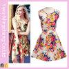Платье оптовой печати лета молодости дешевой безрукавный флористическое сладостное