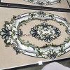 Medaglione Waterjet bianco del marmo del mosaico di Carrara per la pavimentazione