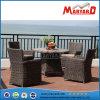 Muebles al aire libre del ocio que cenan el conjunto del mimbre de la silla