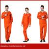 Vêtements de travail 2017 fonctionnants de polyester orange fait sur commande de coton d'usine (W24)