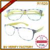 Qualität R1629 ultra dünne lesende Eyewear Witn Bambus-Bügel