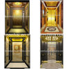 装飾的なエッチングのステンレス鋼のエレベーターの小屋の装飾