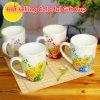 Tazza di ceramica di vendita calda della porcellana della tazza del regalo della tazza del reticolo di fiore