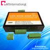 Saídas do relé das entradas análogas do alarme 4 do registador de dados GPRS da G/M RTU SMS para o sensor de temperatura/medidor de fluxo