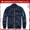 La mejor chaqueta de bombardero del satén del azul de marina del precio de la alta calidad (ELTBJI-47)
