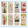 Regalo de la decoración de Navidad iPhone6 iPhone6s iPhone7 más Transparente Colorido suave TPU de dibujos animados Case / Shell