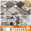 Teja de plata del color brillante impresión de pared de vidrio mosaico (M655003)