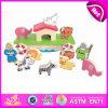 2014 het nieuwe Dierlijke Stuk speelgoed van het Blok van Jonge geitjes Houten, het Mooie Stuk speelgoed van het Saldo van het Blok van Kinderen, het OnderwijsStuk speelgoed W11f029 van het Blok van de Baby van het Stuk speelgoed van Hersenen