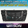 Toyota Corolla 2014년 Car를 위한 Witson Car DVD DVD GPS 1080P DSP Capactive Screen WiFi 3G Front DVR Camera