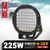 Diodo emissor de luz redondo Work Light do poder superior de Spot, diodo emissor de luz Driving Light de 9inch 225W para 4X4 SUV off-Road rv para Jeep Wrangler 4WD
