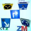 Signe de route de clignotement solaire du signal d'alarme de circulation d'alliage d'aluminium/DEL