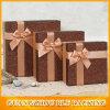 Almacenaje de encargo del rectángulo de regalo del papel de la cartulina para la pila de discos de los regalos (BLF-GB494)