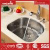 23-1/2  X18-1/8  Form des Edelstahl-D unter Montierungs-einzelner Filterglocke-Küche-Wanne