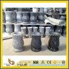 Естественная китайская ваза цветка камня гранита для кладбища