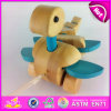 Brinquedo de madeira Andar-um-Longo de Dinasour Push&Pull para os miúdos W05b101