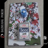 Jeu de jetons de poker pour une bougie Six Dice One Deck No. 98 Club Special Beee Playing Cards in Blister Packaging