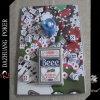 Набор микросхем покера для карточек одного Beee клуба No 98 палубы плашек одного свечки 6 специальных играя в упаковывать волдыря