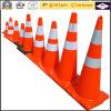 Cones macios reflexivos alaranjados flexíveis da segurança de tráfego do PVC