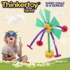 Het plastic Stuk speelgoed van de Bouw van het Eind Opend voor de Verbeelding van de Opleiding