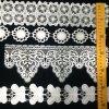 O preto Scalloped o projeto o mais atrasado do laço da guarnição do vestido do vestido da senhora casamento de Fashiopn da onda da borboleta