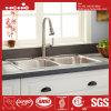 Edelstahl-gleiche doppelte Filterglocke-Oberseite-Montierungs-Küche-Wanne 33  X22