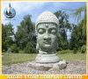 Qualitätshand geschnitzte Steinbuddha-Skulptur fromm