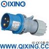 Штепсельная вилка 230V 16A 3p 6h голубое IP44 индустрии Qixing