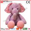 Éléphant rose de caresse d'enfants de peluche de jouet mou de peluche