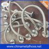 Boyau rayé par PTFE/Teflon de métal flexible avec le tressage et la bride