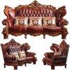 Ledernes Luxuxsofa mit hölzernem Sofa-Rahmen (529)