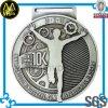 Médaille argentée de sports du marathon 3D en métal avec le modèle personnalisé