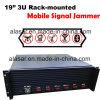 3U de alta potencia de señal inalámbrica móvil Rack-Mounted Jammer prisión