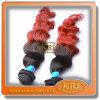 Natural de dos tonos Color Silicona Base peluca Clips en Bulk
