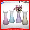 Vaso di fiore di vetro colorato polverizzato vasi di vetro colorato commercio all'ingrosso