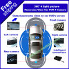 4 Car DVD Packing Assist Free Shipping P212에 Cameras 4 Split Picture Panorama View Monitoring Display를 가진 360 도 Car DVR