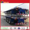 40ft Flachbett-LKW-Chassis-Behälter-halb Schlussteil mit Behälter-Verschlüssen