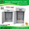 2017 entièrement automatique d'oeufs de poulet solaire incubateur pour 1056 oeufs