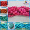 Синтетические шарики бирюзы, голубые шарики бирюзы, красные шарики бирюзы
