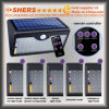 Luz solar del sensor de movimiento de 60 LED con teledirigido (SH-2660)