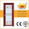 赤いクルミのアルミニウム洗面所の浴室のドア(SC-AAD032)