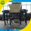 Double défibreur de broyeur d'arbre pour les déchets médicaux/plastique/pneu/métal/fibre/réutilisation du bois