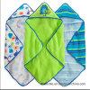 Manta encapuchada hecha punto del bebé de la toalla del bebé del algodón