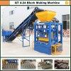 Máquina de bloco de concreto, máquina de fabricação de blocos de cimento Qt4-24