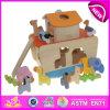 Het grappige Speelgoed van de Bouw van de Houtconstructie voor Jonge geitjes, het Houten Speelgoed van de Bouw van het Stuk speelgoed voor Kinderen, het Houten Speelgoed van de Bouw DIY voor Baby W12D012